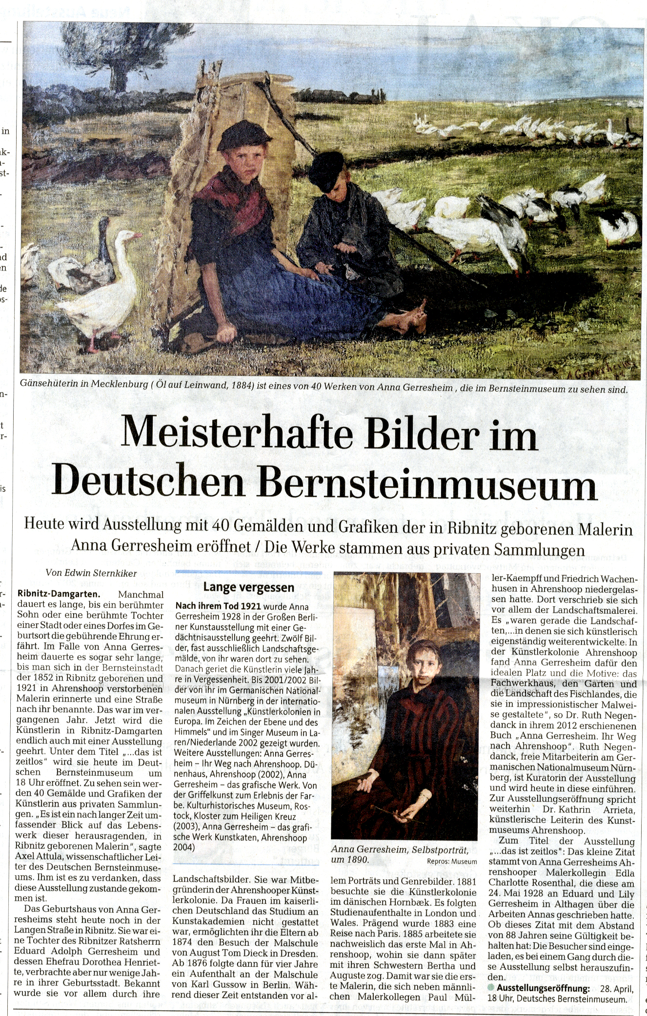 Ostseezeitung 28. April 2016